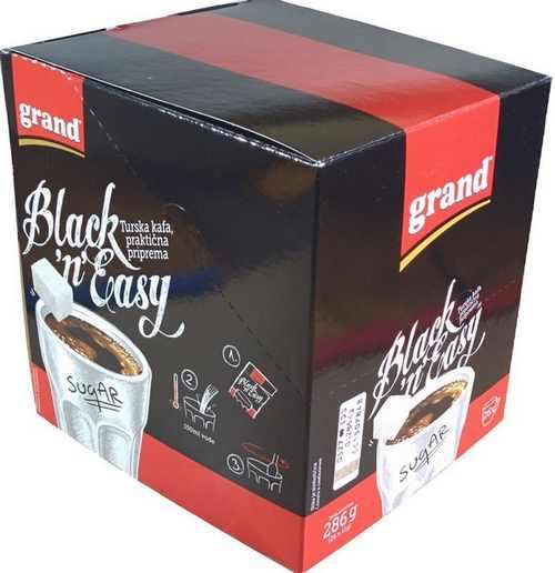 GRAND KAFA Black n Easy 70pcs instant crna kafa prakticna primena Turkish coffee