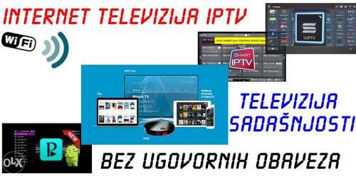 INTERNET TV Uzivo IPTV 5000+ Programa Srbija Bosna Hrvatska Preplata mjesec dana EPG